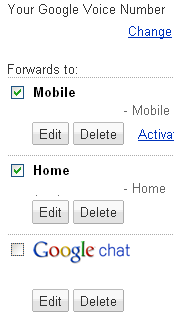 google voice settings google talk