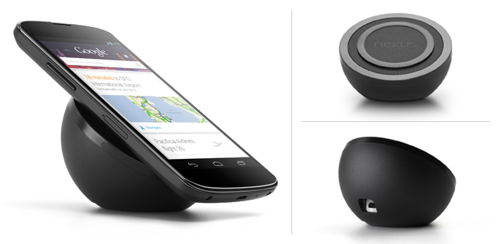 Wireless charger for LG Nexus 4 at Google Play Store