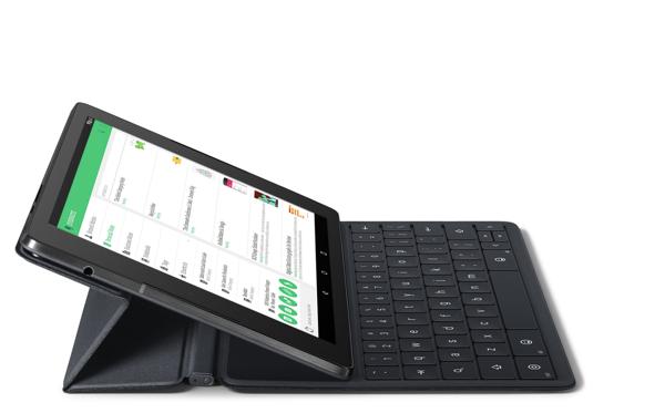 Nexus 9 with folding keyboard case